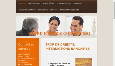 Site internet de Nord Finance Consulting