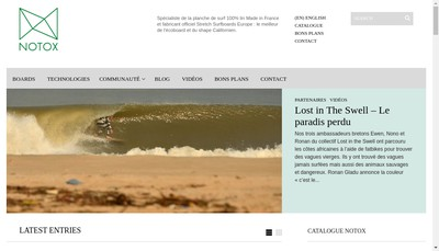 Site internet de Green Wave
