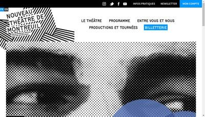 Site internet de Nouveau Theatre de Montreuil