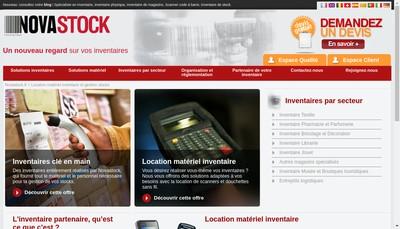 Site internet de Novastock France