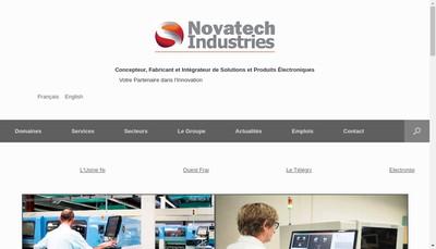 Site internet de Novatech Industries