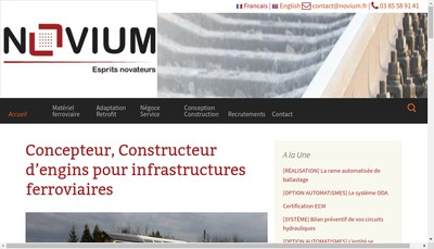 Site internet de Novium