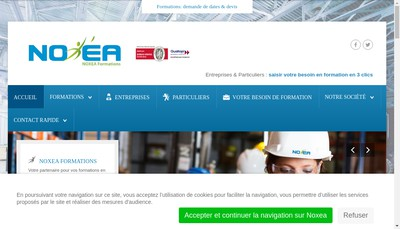 Site internet de Noxea Formations
