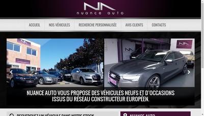 Site internet de Nuance Auto