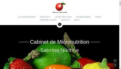 Site internet de Cabinet de Nutritherapie Sabrina Nikitine