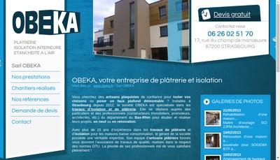 Site internet de Obeka