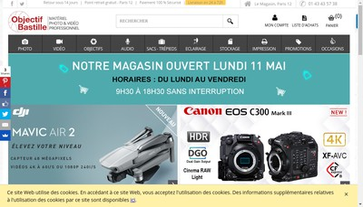 Site internet de Objectif Bastille