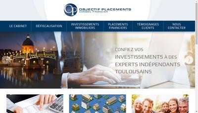 Site internet de Objectif Placements