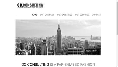 Site internet de OC Consulting