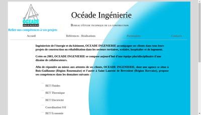 Site internet de Oceade Ingenierie