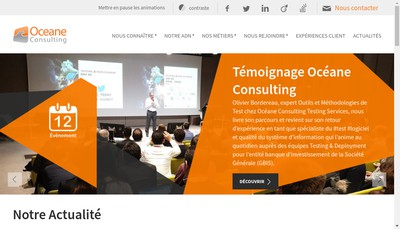Site internet de Oceane Consulting Is