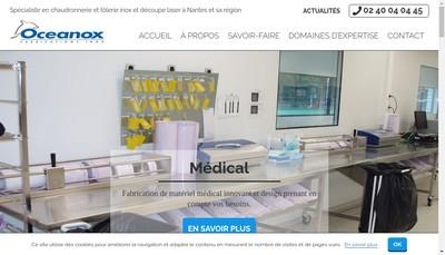 Site internet de Oceanox