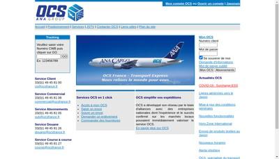 Site internet de Ocs France