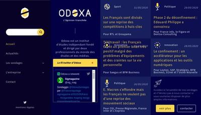 Site internet de Odoxa