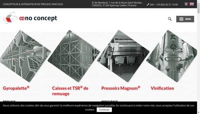 Site internet de Oeno Concept