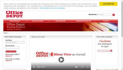 Site internet de Office Depot France