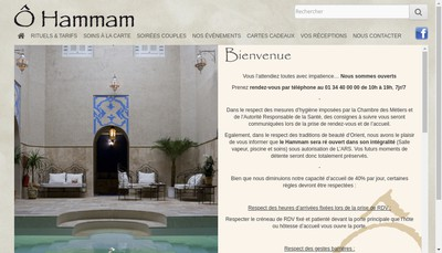 Site internet de O Hammam