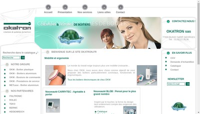 Site internet de Okatron SA
