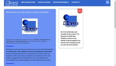 Site internet de Olcero Conseil et Gestion