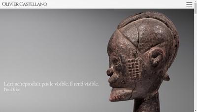 Site internet de Galerie Olivier Castellano