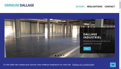 Site internet de Omnium Dallage