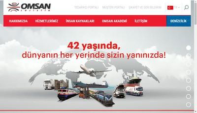Site internet de Omsan Logistique