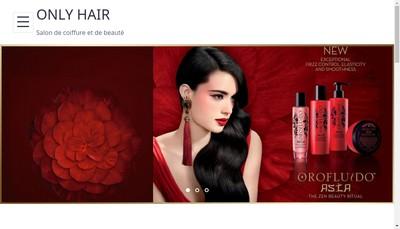 Site internet de Only Hair