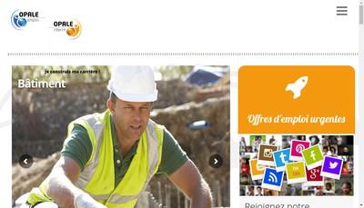 Site internet de Opale Interim