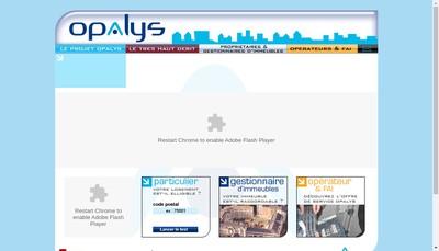 Site internet de Opalys Telecom