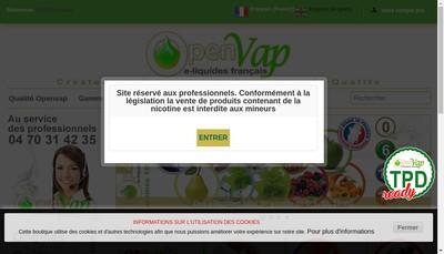 Site internet de Openvap
