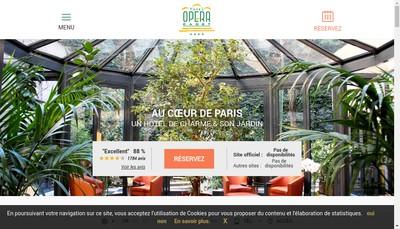 Site internet de Hotel Opera Cadet