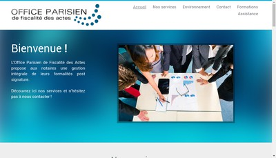 Site internet de Office Parisien de Fiscalite des Actes