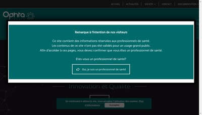 Site internet de Ophta-Ouest