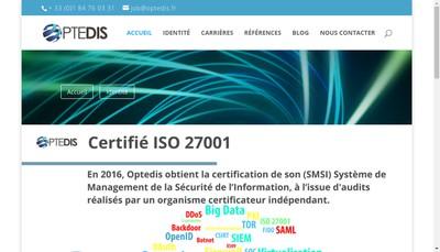 Site internet de Optedis
