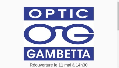 Site internet de Optic Gambetta