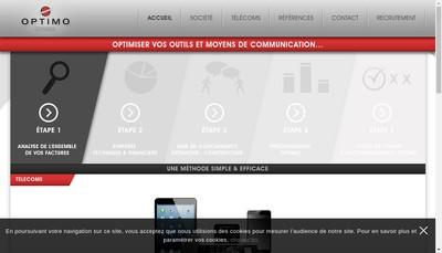Site internet de Optimo Conseil