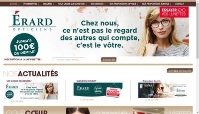 Site internet de Optique Erard