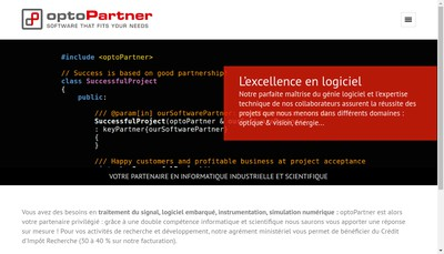 Site internet de Optopartner