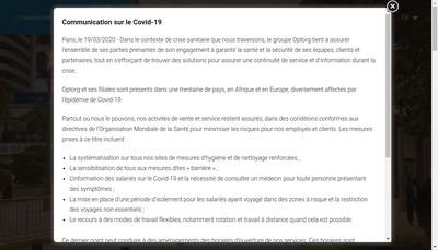 Site internet de Cie Optorg