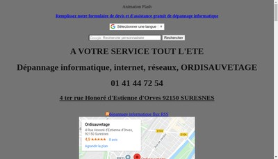Site internet de Ordisauvetage