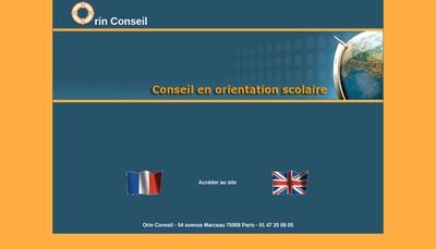 Site internet de Orin Conseil