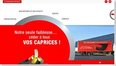 Site internet de Orleans Transports
