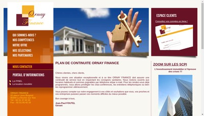 Site internet de Ornay Finance