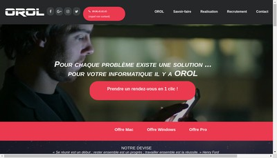 Site internet de Orol Informatique