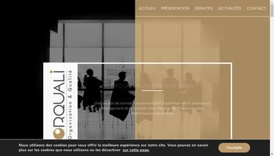 Site internet de Orquali Organisation et Qualite