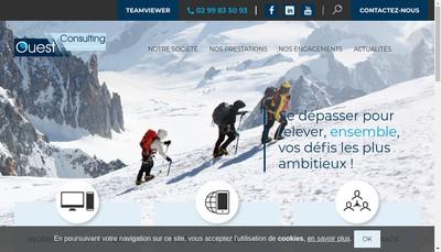 Site internet de Ouest Consulting