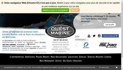 Site internet de Ouest Marine