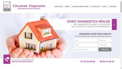Site internet de Ouest Diagnostics