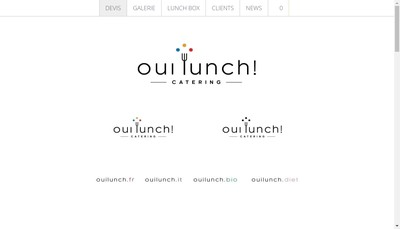 Site internet de Oui Lunch !