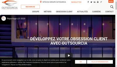 Site internet de Outsourcia